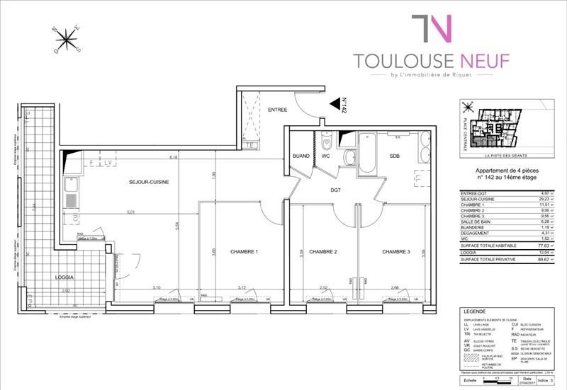 Vente appartement Toulouse 274000€ - Photo 7