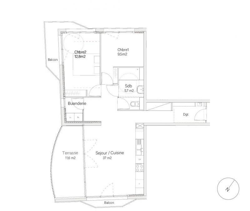 Vente appartement Bordeaux 342630€ - Photo 3