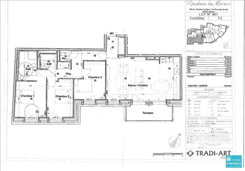 Vente appartement Antony 475000€ - Photo 2
