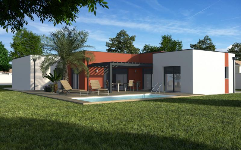 """Modèle de maison  """"Maison toit plat 136m²"""" à partir de 5 pièces Pyrénées-Atlantiques par MAISONS ECG"""
