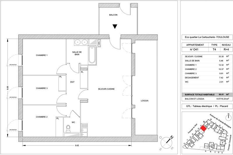 Vente appartement Toulouse 280000€ - Photo 5