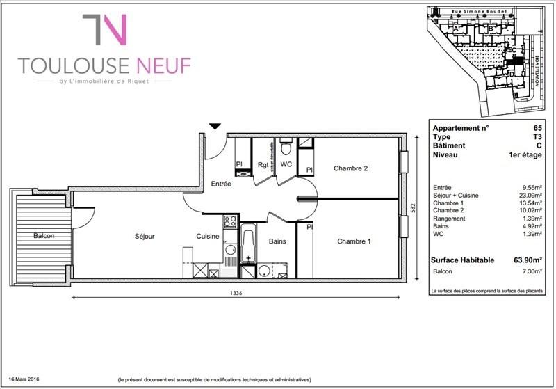 Vente appartement Toulouse 225000€ - Photo 9