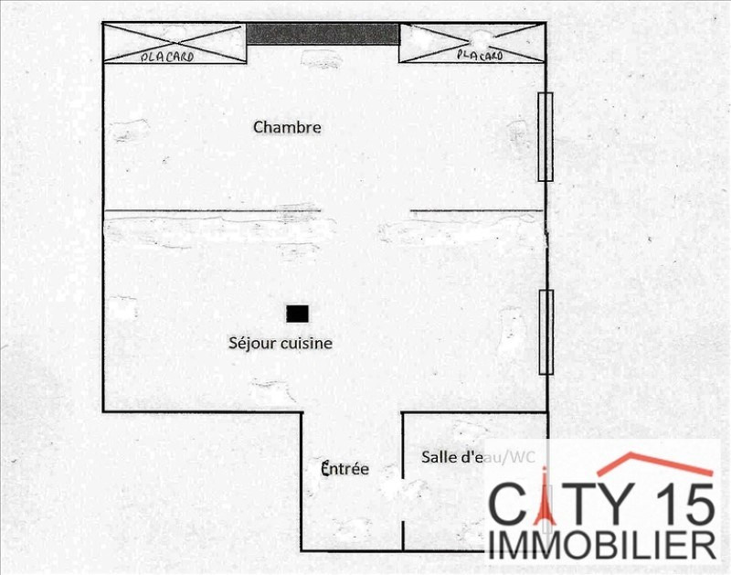 Revenda apartamento Paris 15ème 257000€ - Fotografia 3