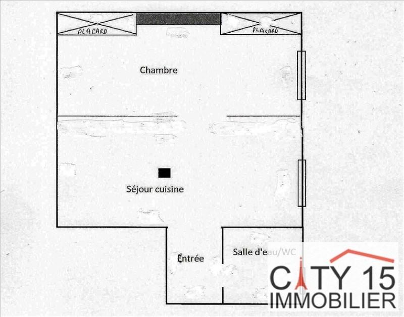 Verkoop  appartement Paris 15ème 257000€ - Foto 3