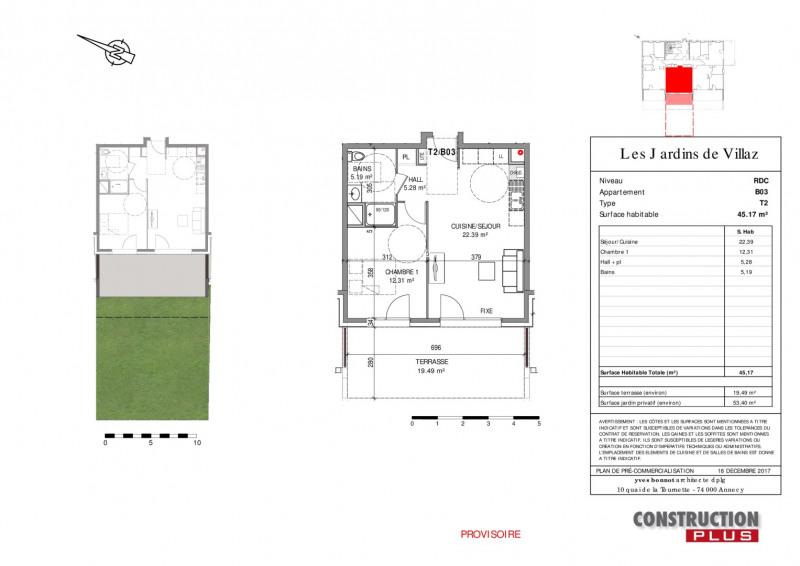 Vente appartement Villaz 202000€ - Photo 2