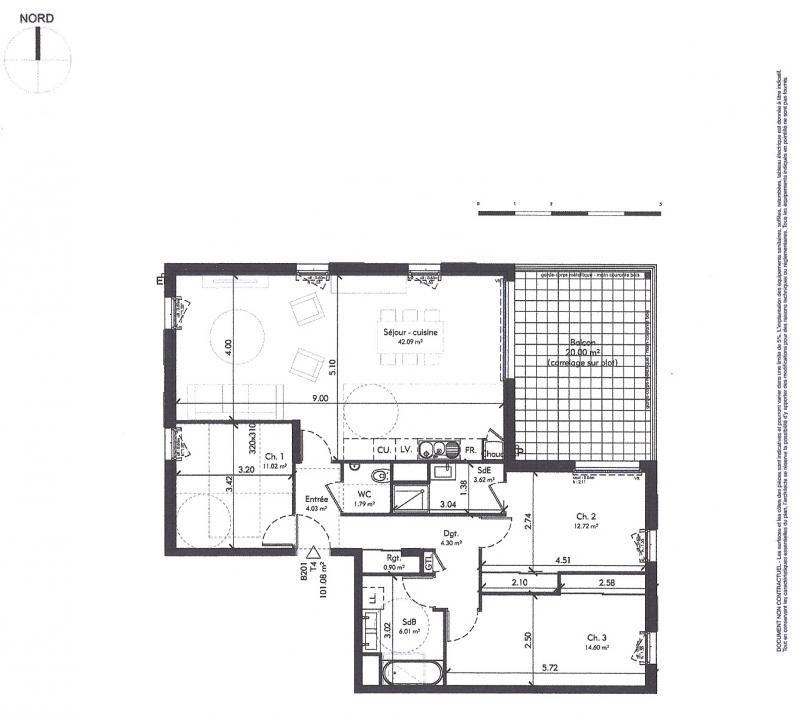 Vente appartement Genas 420913€ - Photo 3