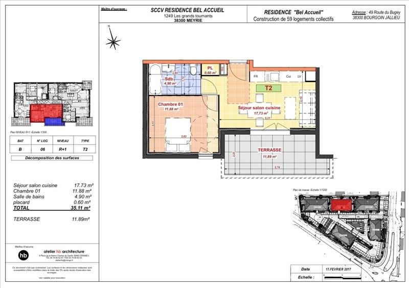 Vente appartement Bourgoin jallieu 98300€ - Photo 4