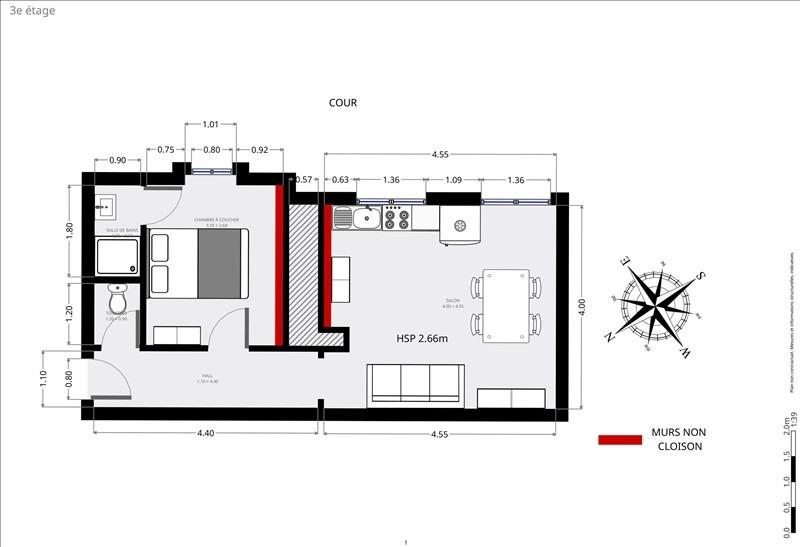 Vente appartement Paris 15ème 383500€ - Photo 8