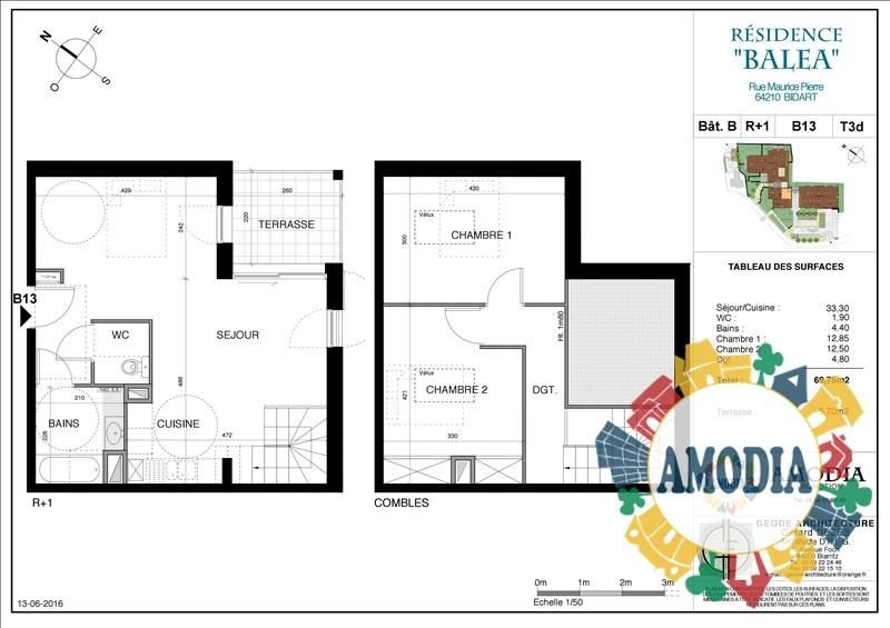 Vente appartement Bidart 369000€ - Photo 2