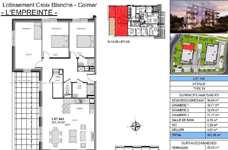 Revenda apartamento Colmar 325000€ - Fotografia 2