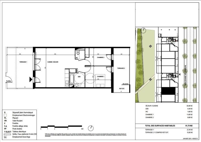 Vente appartement Blagnac 205000€ - Photo 2