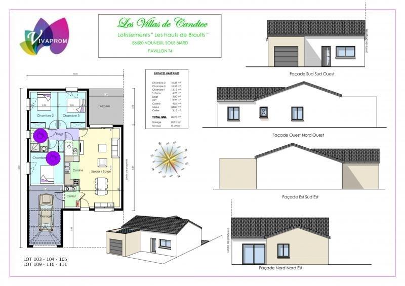 Sale house / villa Vouneuil sous biard 190000€ - Picture 7