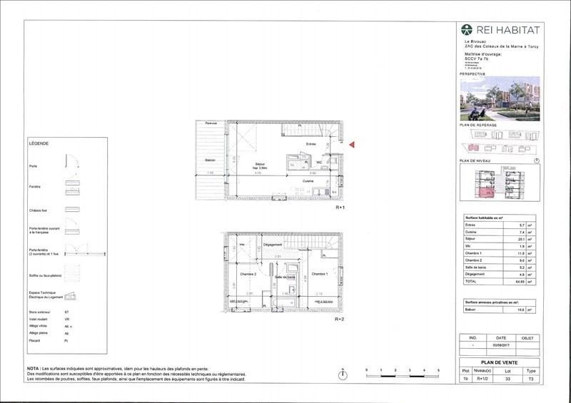 Produit d'investissement appartement Torcy 271014€ - Photo 7