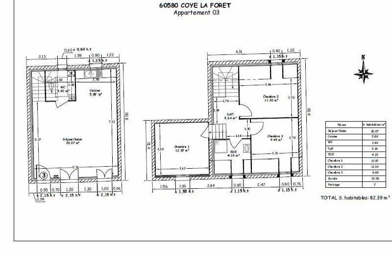 Sale house / villa Coye la foret 321321€ - Picture 5