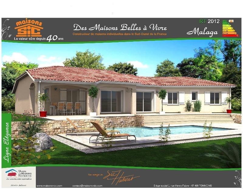 Maison  5 pièces + Terrain 1400 m² Marcillac / St Quentin par SIC HABITAT