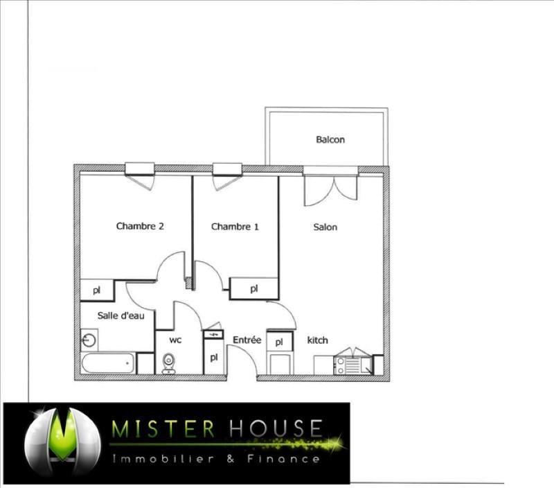 Verkoop  appartement Montauban 161000€ - Foto 2