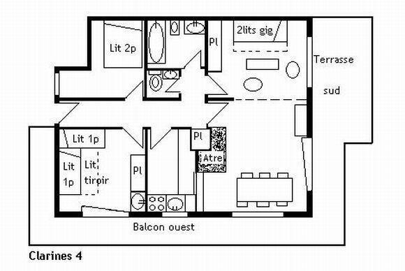 Appartement 3 pièces 7 personnes (4)