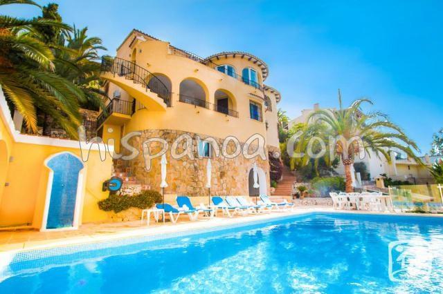 Belle villa à Benissa avec une jolie vue mer pour 8 personnes |damarpo