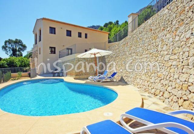 Villa récente en location à Calpe avec vues mer panoramiques |olia