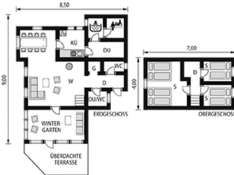 Maison pour 8 à Eikelandsosen