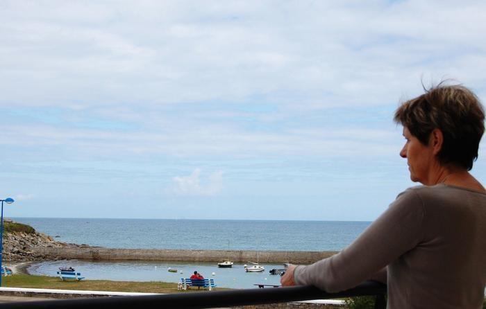 Vue de la terrasse à marée haute
