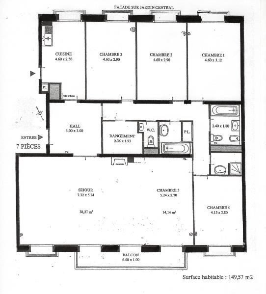 plan appartement 7 chambres