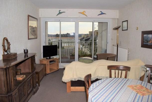 Appartement VUE MER 2 chambres 3 pers au centre de TREGASTEL