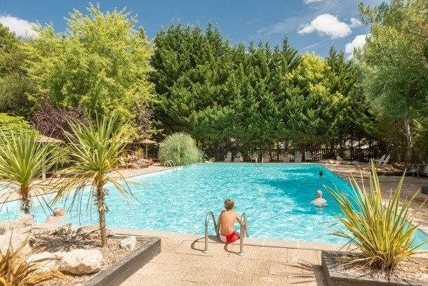 Camping Le Village Western - Palmier Océan - Hourtin Port - MH 2ch 5/6pers 25m² +terrasse couverte