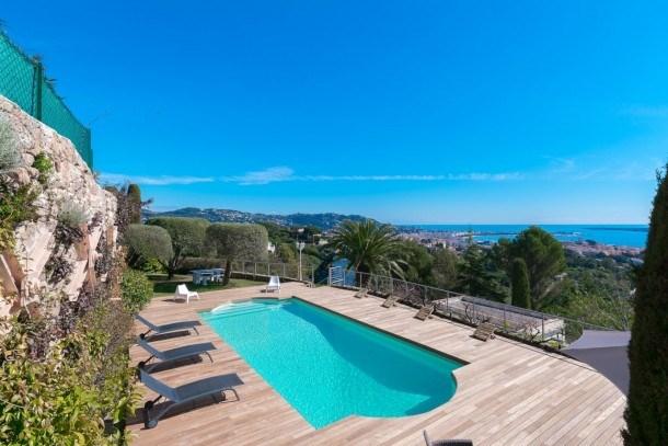 Superbe Villa surplombant la mer à Cannes