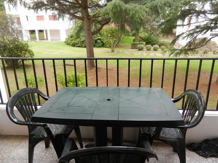 Balcon avec vue sur le parc
