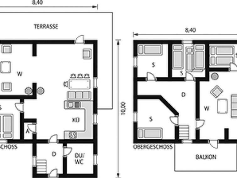 Maison pour 8 à Bjoa
