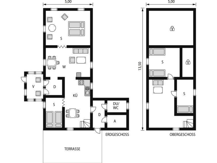 Maison pour 7 à Bräkne-Hoby