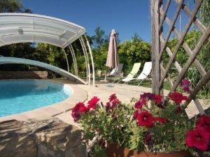 piscine en forme de haricot 8m x 4m chauffée