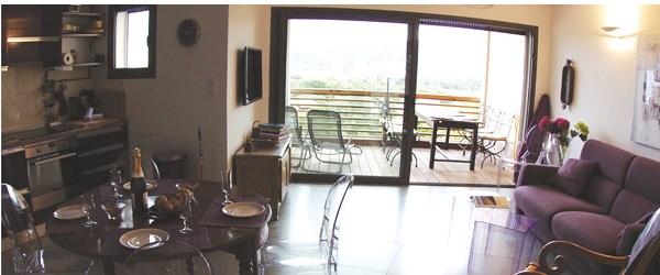 Appartement vue mer hébergement confortable pour découvrir l'île passionnante et insolite de la Corse une grande piscine
