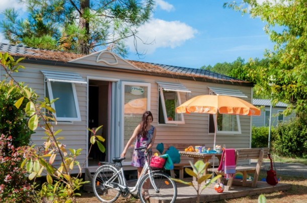 Camping Falaise Narbonne Plage 2* - Mh 2 ch 6 pers - (max 5 adultes + 1 enfant -14a)