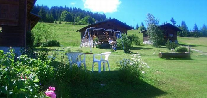 Chalets in summer