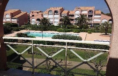 Studio mezzanine pour 4 personnes situé à la résidence les Soleillades avec piscine d'été, Palavas rive gauche, en de...