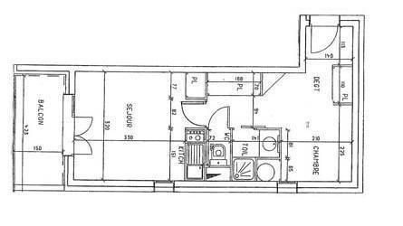 Appartement 2 pièces cabine mezzanine 8 personnes (640)