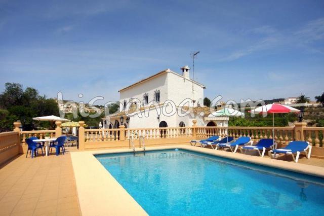 Location villa à Javea avec piscine et belle vue campagne|abia
