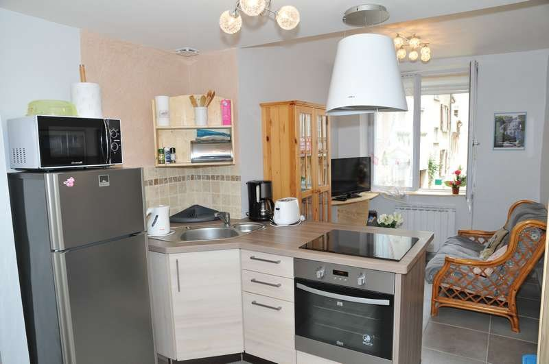 cuisine intégrée ouverte sur salon