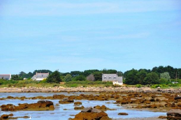 Villa bretonne VUE MER à 50m mer et sentier du littoral à Landrellec