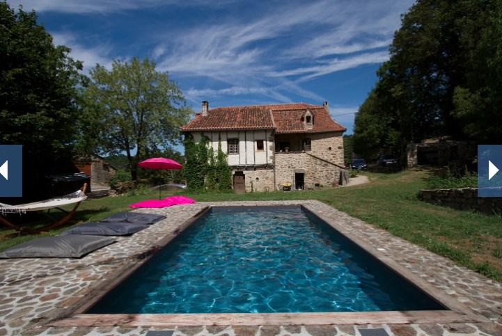 Quercy : Maison de vacances avec piscine