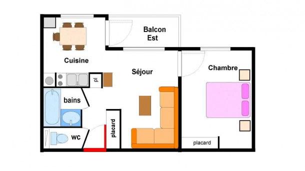 Location vacances Lanslebourg-Mont-Cenis -  Appartement - 5 personnes - Télévision - Photo N° 1