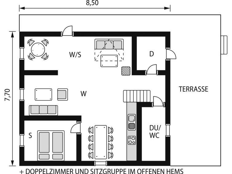 Maison pour 6 à Olden
