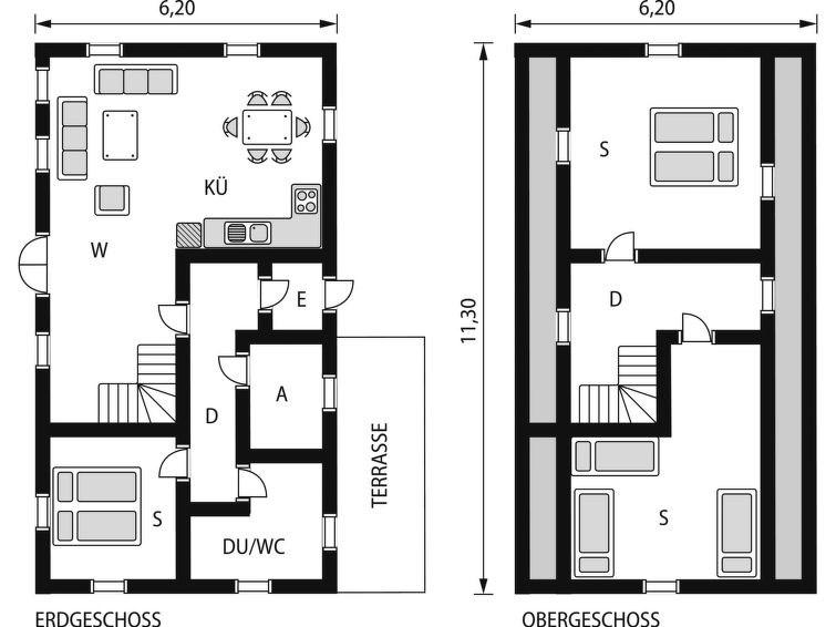 Maison pour 6 à Konsmo