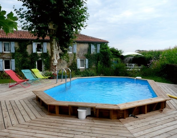 Landes House, pool, Jacuzzi - Ossages