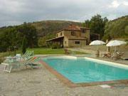 Une maison extrêmement confortable et cosy située sur les hauteurs d'une colline proche de Castiglion Fiorentino.
