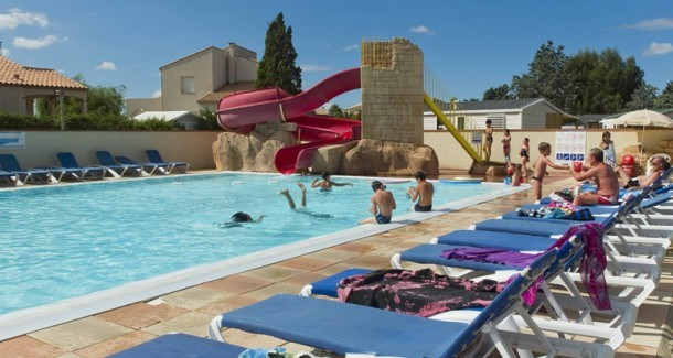 Camping Le Roussillon - Mh Baltique CLIMATISE 3Ch 6Pers + Terrasse Dallée