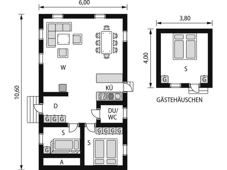 Maison pour 6 à Ätran