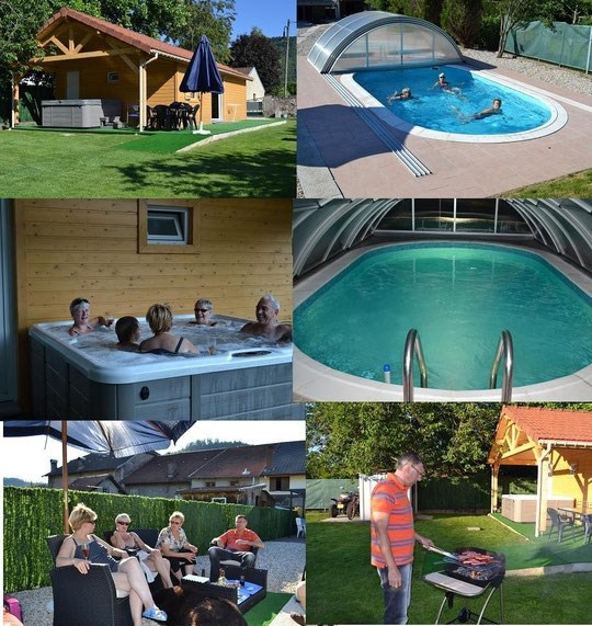 Chalet dans les Vosges avec spa et piscine couverte et chauffée